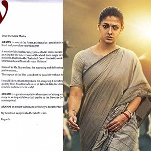 'Aramm is Definitely a breather for Tamil Cinema'