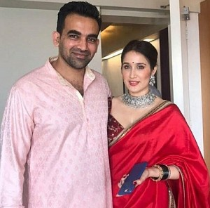Cricketer Zaheer Khan and Actress Sagarika Ghatge Wedding