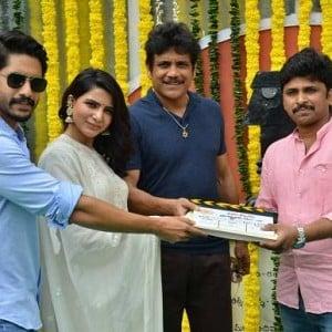 NagaChaitanya - Samantha New movie Pooja